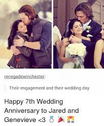 Wedding Anniversary Meme - renegade winchester their engagement and their wedding day happy 7th