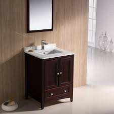 fresca fvn2024mh oxford mahogany single basin bathroom vanity sets