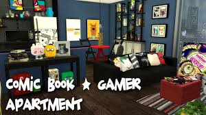 the sims 4 speed build comic book gamer apartment cc links