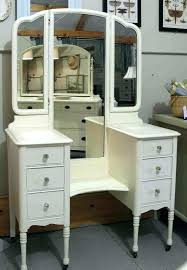 Wood Vanity Table Makeup Desk With Mirror And Lights Full Image For Wood Makeup