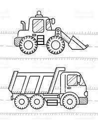 cars and vehicles coloring book for kids dump truck excavator