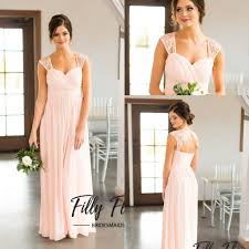 2017 pearl pink country style lace bridesmaid dresses long