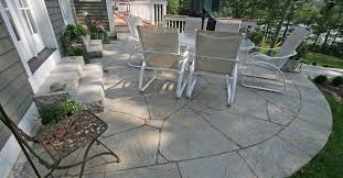 Backyard Flooring Ideas by Curved Flagstone Concrete Patios New England Hardscapes Inc In