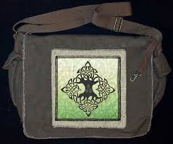 elemenal tree artpatch canvas messenger bag by artist jen