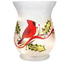 Mercury Glass Urn Vase Holiday Frosted Glass Vase With Micro Lights By Valerie Page 1