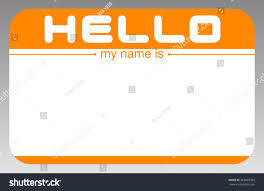 Orange Colors Names Hello My Name Is Orange Sticker Stock Vector 262893362 Shutterstock
