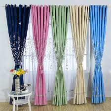 Navy And Pink Curtains Myru Mediterranean Navy Cloth Curtains Rural Silver Trees Printed
