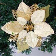 Wholesale Florist Christmas Decorations by Gold Flower Christmas Tree Decorations Online Gold Flower