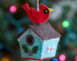 birdhouse ornament etsy