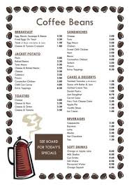 coffee shop menu template menu template 005
