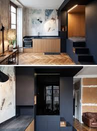 parisian kitchen design a custom designed bedroom box was added to this small apartment