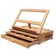 fold away drawing table ktaxon 3 layers wooden artist easel folding sketch paint box table