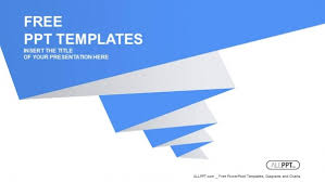 Blue Pleated Shape On The White Background Powerpoint Templates Blue Ppt