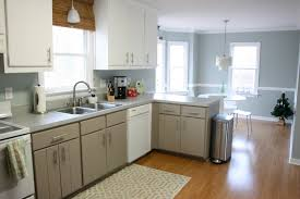 white and blue kitchen ideas with brown floor kitchen