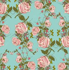 floral gift wrapping paper vintage nostalgic beautiful roses bunches composition