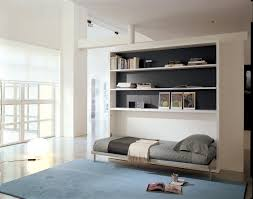 Murphy Bed Shelves Poppi Horisontal Fold Away Wall Bed With Desk On Request