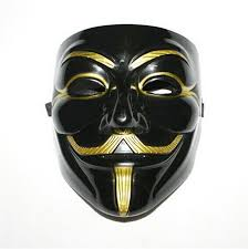 v for vendetta costume new arrive v for vendetta black mask with eyeliner nostril