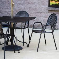American Patio Furniture by American Tables And Seating 90b Metal Black Outdoor Chair