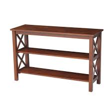 zuo linea walnut console table 199053 the home depot
