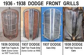 dodge grill 1936 dodge truck any compatatible years for parts mopar