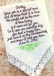 Engagement Gift From Parents Mother In Law From Bride Wedding Heirloom Handkerchief Custom
