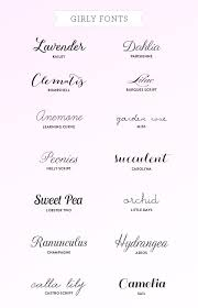 my favorite girly fonts calla lilies fonts and tattoo