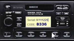 free ford radio decode unlock keycode m series youtube