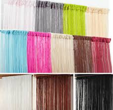 Patio Door Net Curtains Plain String Curtains Patio Door Divider Fly Windows Fringe Net