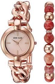 beaded bracelet watches images Anne klein women 39 s ak 2836suns rose gold tone bracelet jpg