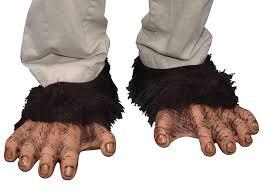 gorilla halloween mask chimp feet monkey gorilla costume accessory in footwear