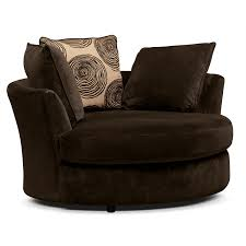 Swivel Chairs Living Room Upholstered furniture sophisticated oversized round swivel chair with