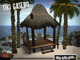 Cheap Tiki Huts For Sale Second Life Marketplace Ho U0027okipa Tiki Hut Gazebo Leaving