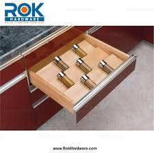 cut to size kitchen insert wood spice organizer for drawers