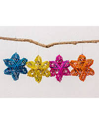 spectacular deal on recycled paper ornaments vibrant set