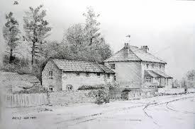 landscapes sketches pencil pencil art drawing