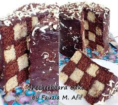 how to assemble a checkerboard cake without the special pans