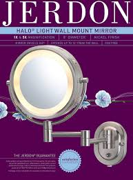 amazon com jerdon hl65n 8 inch lighted wall mount makeup mirror