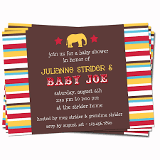 circus themed baby shower invitations afoodaffair me
