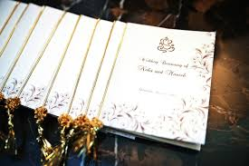 indian wedding programs invitations more photos program with gold tassel inside weddings