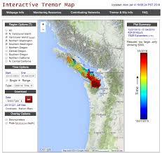 Earthquake Map Oregon by Slow Earthquake Trembles Beneath Vancouver Island Pacific