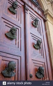 main doors of st mary u0027s basilica in main market square krakow