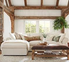 Sectional Sofa With Chaise Sunbrella Indoors U0026 Out Pottery Barn
