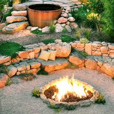 Gravel Fire Pit Area - stunning u0026 inspiring outdoor fire pit areas the happy housie