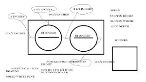 2x12 Guitar Cabinet Guitar Speaker Cabinet Blueprints Roselawnlutheran