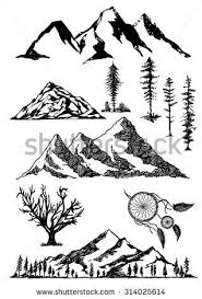 ideas for a mountain tattoo to compliment my island palm tree