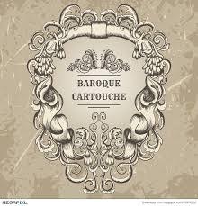 antique and baroque cartouche ornaments frame vintage
