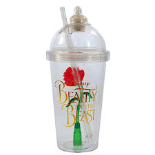 beauty and the beast light up rose your wdw store disney drink tumbler cup light up beauty and the