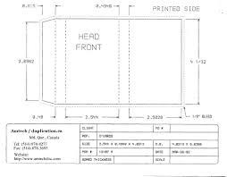 Invitation Card Dimensions Cassette Insert Print Specs