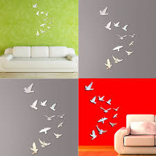 aliexpress com buy acrylic mirror wall posters bird shape modern aliexpress com buy acrylic mirror wall posters bird shape modern wall stickers home floral decor poster diy wall decals art poster d9440 from reliable