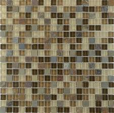 Stone Glass Tile Backsplash by Natural Stone And Glass Blend Mosaic Bathroom Wall Tiles Sg130